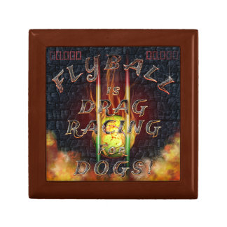 Flyball Flamz: Drag Racing for Dogs! Small Square Gift Box