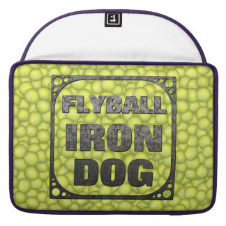 Flyball Iron Dog - 10 years of competition! Sleeves For MacBook Pro