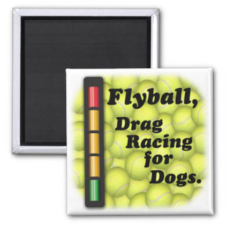 Flyball is Drag Racing / Dogs Refrigerator Magnet
