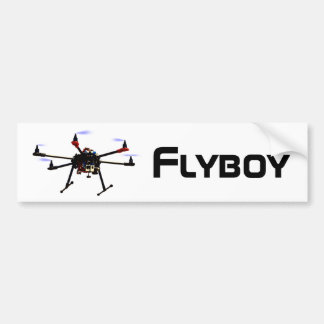 Flyboy hexacopter drone bumper sticker