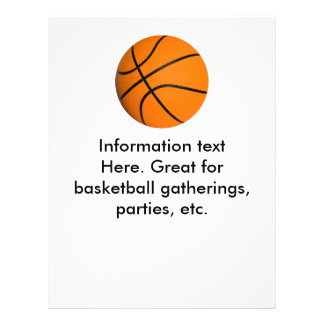 Flyer Basketball, for parties, gatherings, etc.