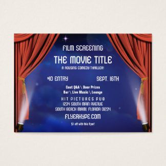Flyer Hype Curtain Stage Cinema Film Screening