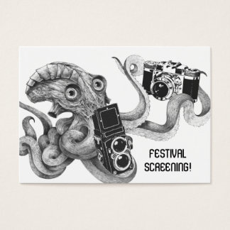 Flyer Hype Film Octopus Camera Film Screening V2 Business Card