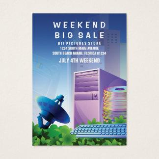 Flyer Hype Technology Sale Marketing Vertical