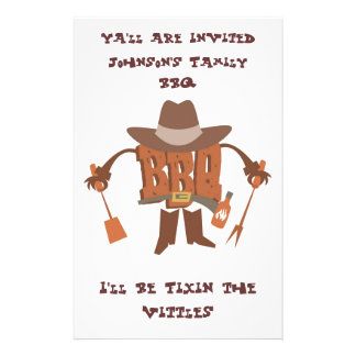 Flyer Invitation for Hillybilly BBQ