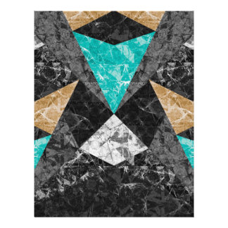 Flyer Marble Geometric Background G430