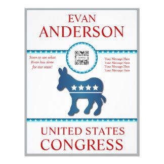 Flyer Template Democrat Donkey