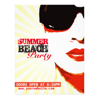 flyer to summer beach party