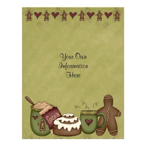 Flyer -Winter fun-Cocoa-Hot Chocolate-Gingerbread