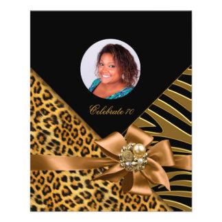 Flyer Zebra Leopard Gold Black