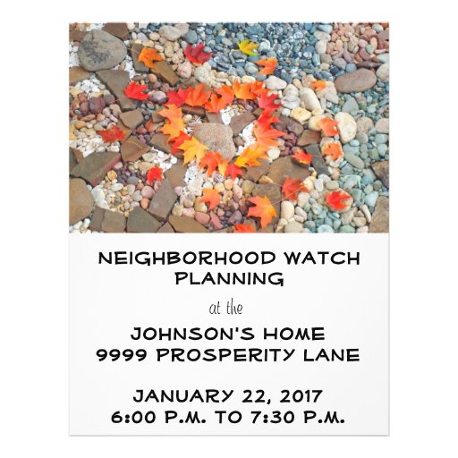 Flyers Neighborhood Watch Planning Design Your Own