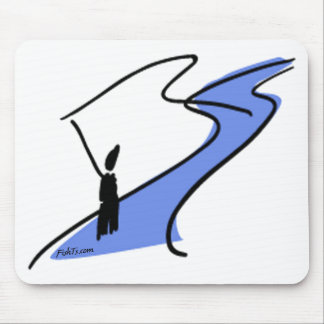 FlyFishing in the stream. Mouse Pad