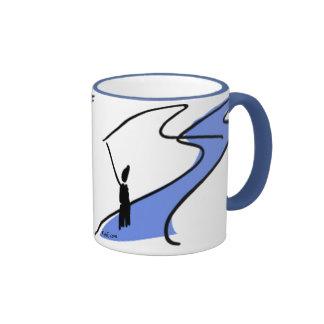 FlyFishing in the stream. Coffee Mug