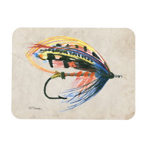 FlyFishing Lure Art Salmon Fly Lure Flexible Magnets