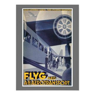 FLYG, 1932 Anders Beckman 14 Cm X 19 Cm Invitation Card
