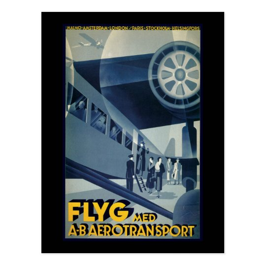 Flyg Aerotransport Airline Aeroplane Aeroplane Postcard