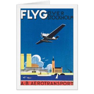 Flyg Over Stockholm Greeting Card