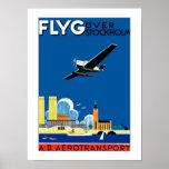 Flyg Over Stockholm Print