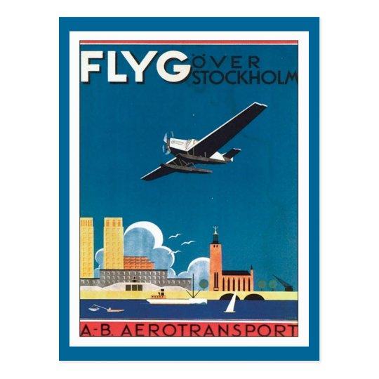 FLYG Stockholm Sweden Postcard