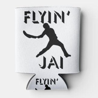 Flyin' Jai black silhouette Can Cooler