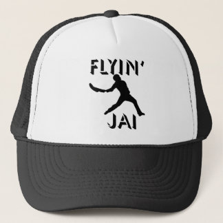 Flyin' Jai black silhouette Trucker Hat