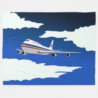 Flying Aircraft Fleece Blanket