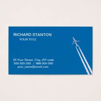 Flying airplane business card