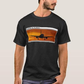 Flying at Sunset-Pilots in Flight T-Shirt