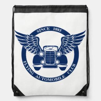 Flying Automobile Club Drawstring Bag