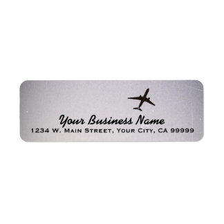 Flying Away | High Altitude Airplane Jet Plane Return Address Label