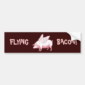 Flying Bacon! Bumper Sticker