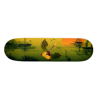 Flying Balalaika 21.3 Cm Mini Skateboard Deck