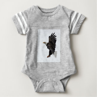 Flying Bald Eagle Baby Bodysuit