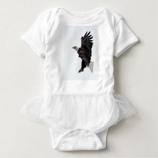 Flying Bald Eagle Baby Bodysuit
