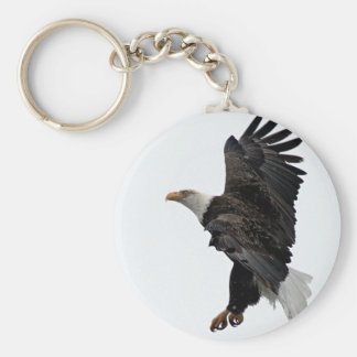 Flying Bald Eagle Key Ring