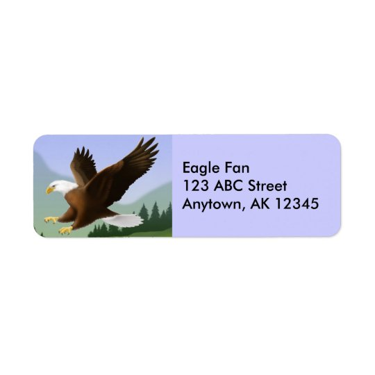 Flying Bald Eagle Label Return Address Label