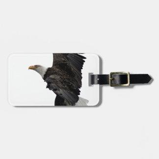 Flying Bald Eagle Luggage Tag