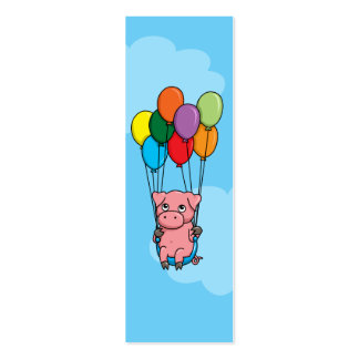 Flying Balloon Pig Pack Of Skinny Business Cards