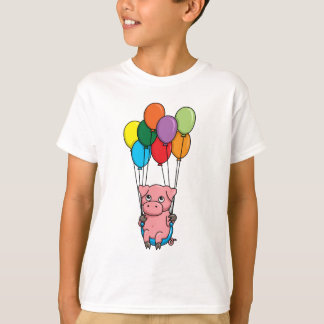 Flying Balloon Pig T-Shirt