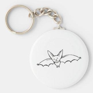 Flying Bat - fun original ink drawing sketch art Key Ring