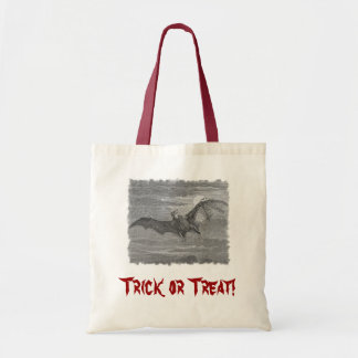 Flying Bat Lithograph Budget Tote Bag