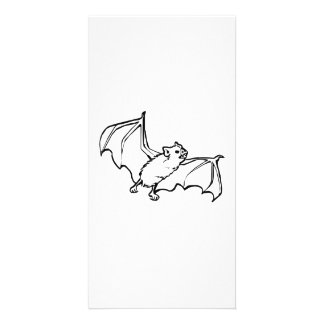 Flying Bat Photo Greeting Card