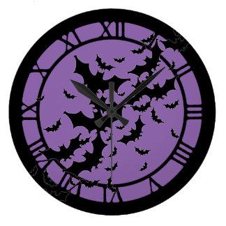 Flying Bats Large Clock