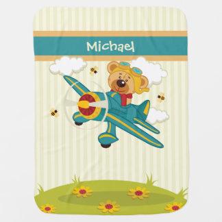 Flying Bear Baby Blanket