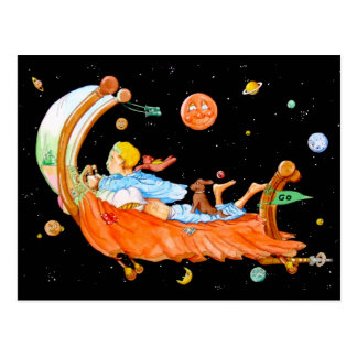 FLYING BED ADVENTURE by Slipperywindow Postcard