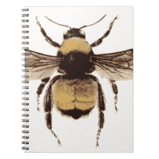 Flying Bee Spiral Notebook