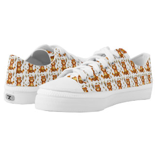 Flying Bees With A Honey Bear Low Tops