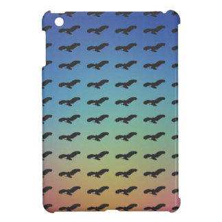 Flying Bird Black Silhouette Pattern & Colorful BG Case For The iPad Mini