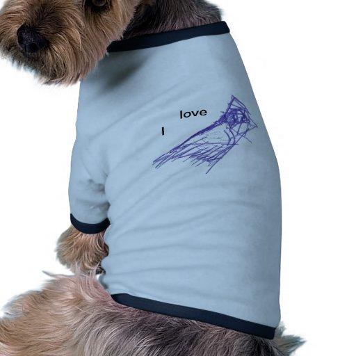 Flying bird dog tee shirt