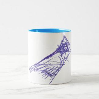 Flying bird coffee mugs
